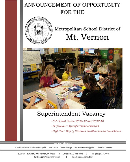 Superintendent Brochure Cover