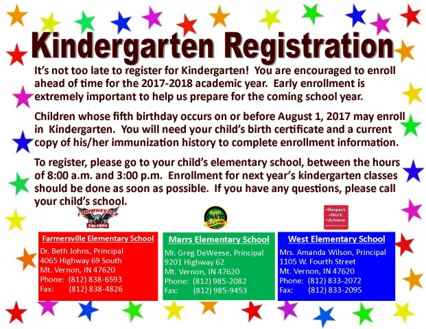 FINAL- ITS NOT TOO LATE - KINDERGARTEN LATE REGISTRATION STAR BORDER