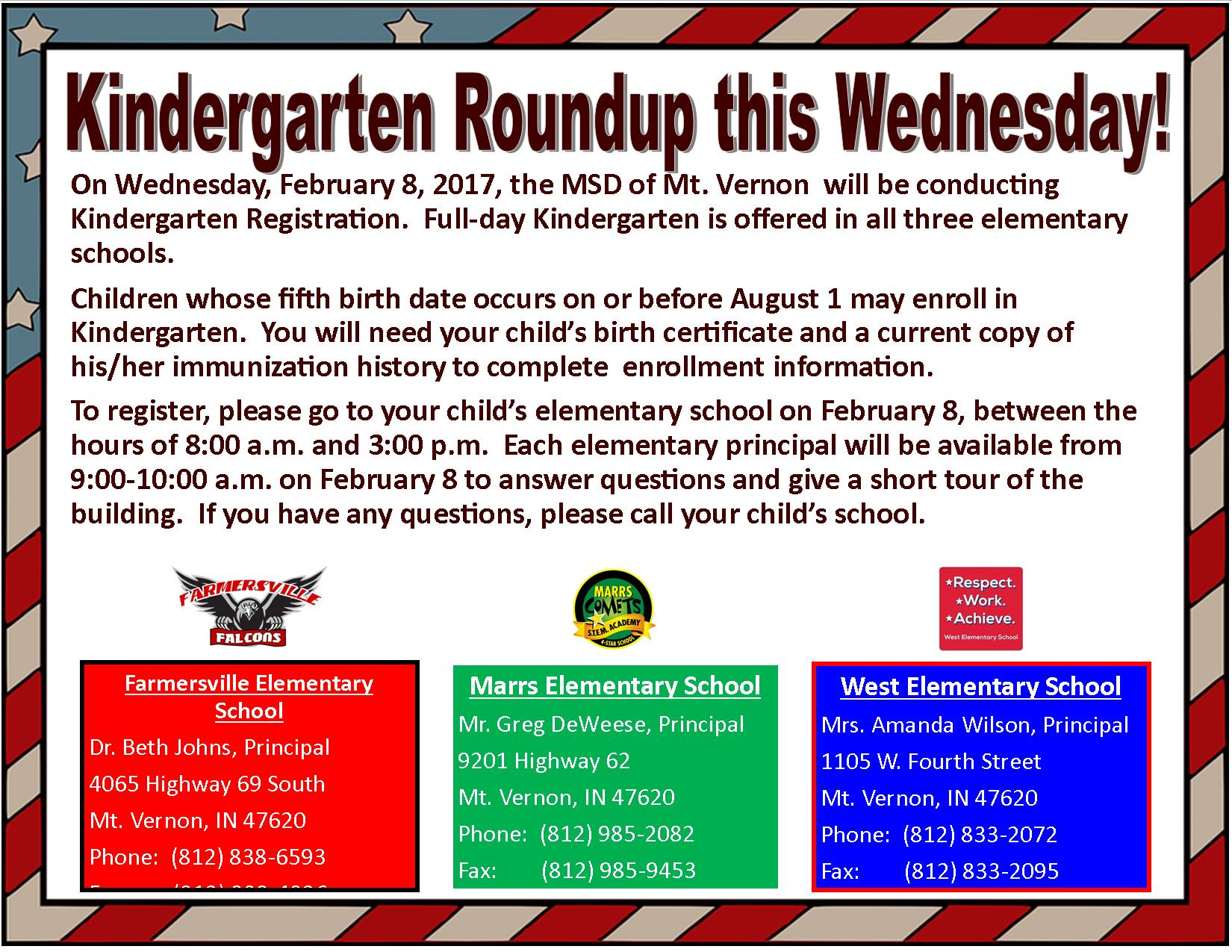 KINDERGARTEN ROUNDUP FINAL REMINDER FLAG BOARDER 3